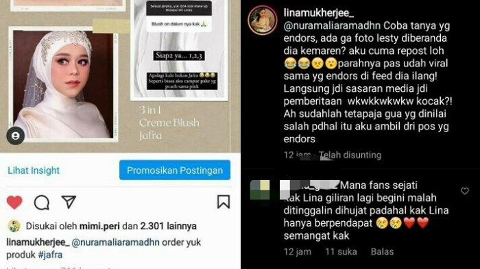 Klarifikasi Lina Mukherjee dituding sengaja pakai wajah Lesti Kejora untuk endorse