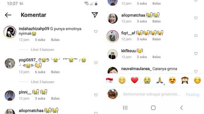 Cara Membuat Emoticon Rambut di Kolom Komentar Instagram atau Whatsapp, Cari Emoticon di Bagian Ini