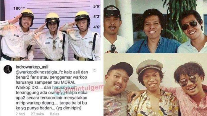 Indro Warkop Tak Setuju, Pro Kontra 3 Pemuda yang Disebut Mirip Warkop DKI : Fakta Tak Ada Izin