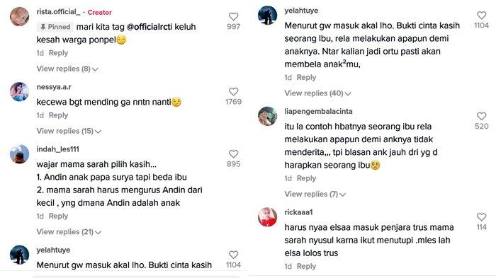 Komentar pengguna TikTok soal alur cerita Ikatan Cinta yang makin menjembar