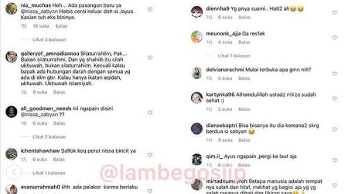 Komentar warganet pada unggahan Ustaz Zacky Mirza terbaru