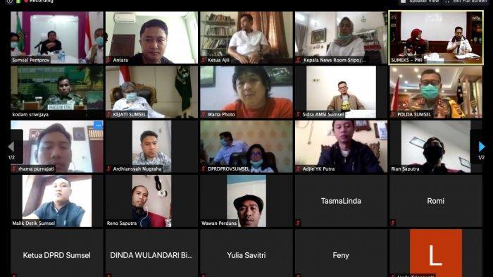 Herman Deru Terima Saran Jurnaslis Sumsel, Konferensi Pers Tatap Muka Diubah Virtual Selama Corona