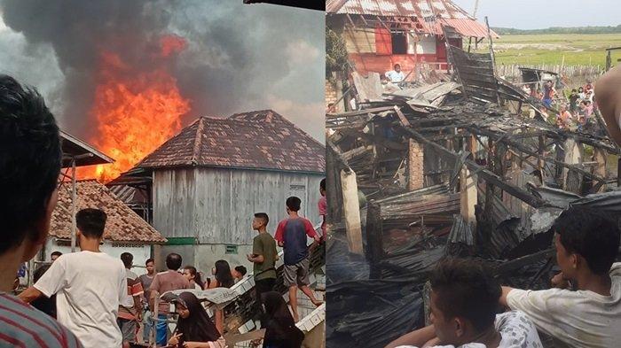 Kronologi Kebakaran Enam Rumah di Tanjung Atap OI, Pemilik Rumah Menangis