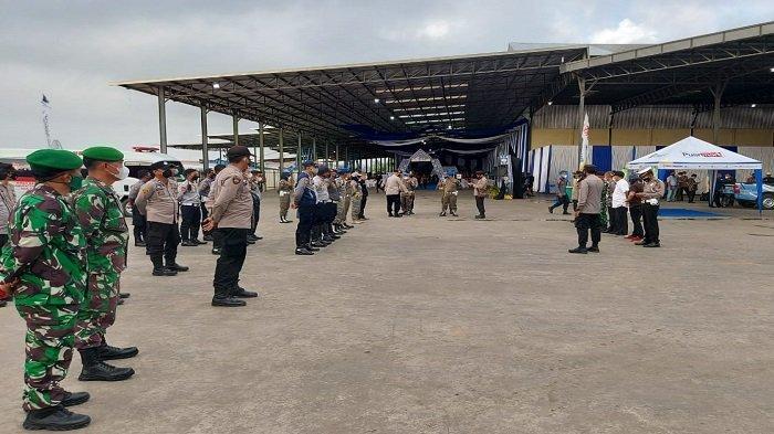 TNI-Polri Amankan Kunker Mentan RI Dalam Rangka Kick Off Food Estate di Ogan Ilir