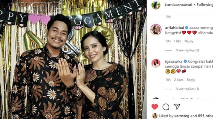 Kurnia Asmawati pemeran Uun di Tukang Ojek Pengkolan menikah