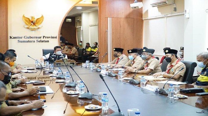 Gubernur Sumsel Minta Pramuka Sumsel Jadi Garda Terdepan Kampanyekan Prokes