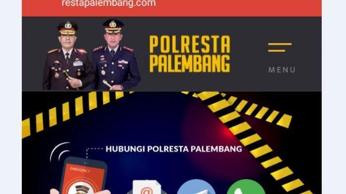Cara Mudah Buat Laporan Dan Pengaduan Polisi Polrestabes Palembang Secara Online Pakai Hp Tribun Sumsel