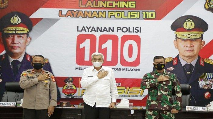 Wagub Sumsel Mawardi Yahya Hadiri Launching Layanan Polisi 110