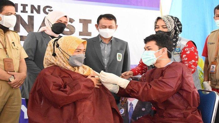 Kabupaten Ogan Komering Ilir Gelar Vaksinasi Massal,Sasar Ibu Hamil dan Menyusui