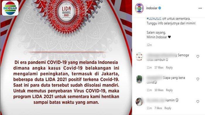 Beberapa Duta Positif Covid-19, Tayangan Program LIDA 2021 Indosiar Dihentikan Sementara