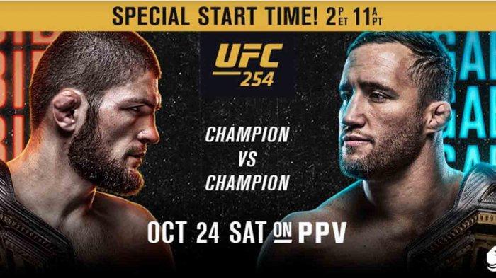 Cara Nonton Live Streaming Khabib Nurmagomedov vs Justin Gaethje Ajang UFC 254 Minggu (25/10)