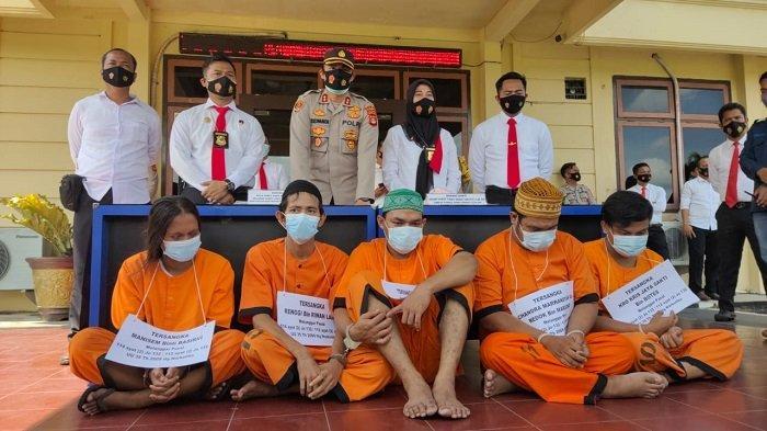 Satres Narkoba Prabumulih Kembali Ringkus 5 Pelaku Penyalahgunaan Sabu