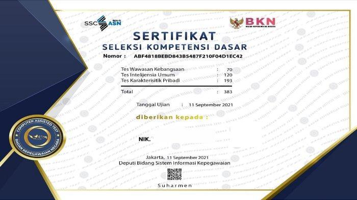 Link dan Cara Download Sertifikat SKD CPNS/PPPK 2021 dari BKN, Simak Langsung Disini