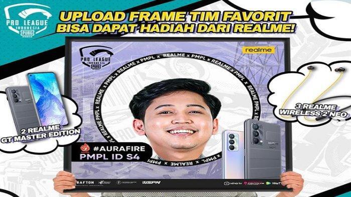 Link dan Cara Pasang Twibbon Tim Favorit PMPL ID Season 4 Berhadiah 2 HP Realme GT Master Editon