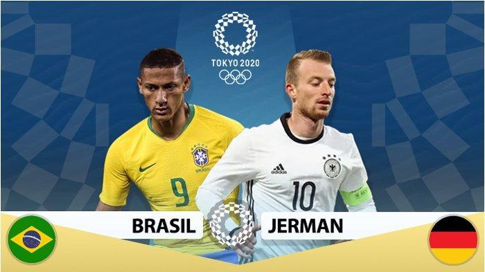 Cara Nonton Live Streaming Brasil vs Jerman di Olimpiade Tokyo 2020 Malam ini, Seru