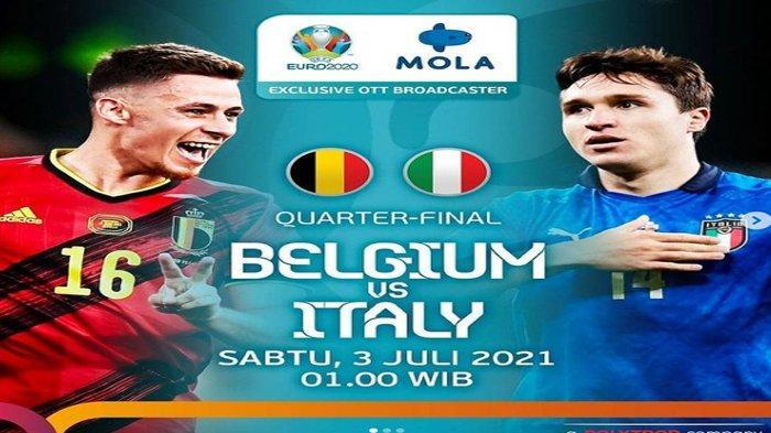 Link Live Streaming Belgia vs Italia di Euro 2020 Malam ini : Siaran Langsung di RCTI