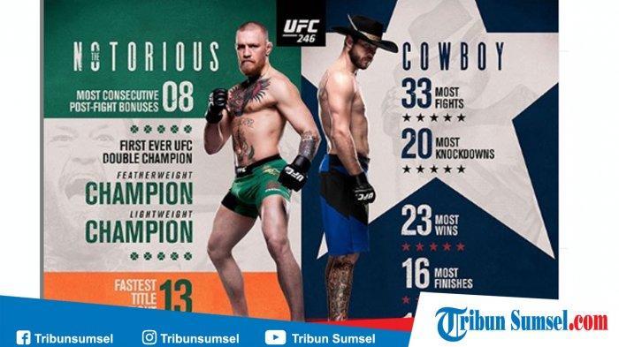 Cuma Butuh 40 Detik Conor McGregor Kalahkan Donald Cerrone di UFC 246, Begini Jalannya Pertandingan