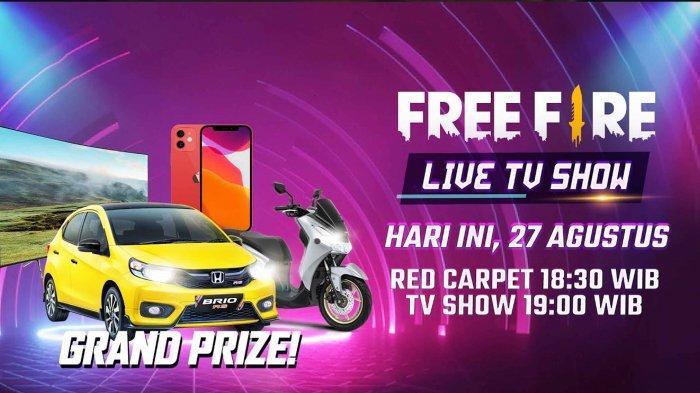 Link Live Streaming Free Fire 4 Anniversary Live TV Show Malam Ini, Ada Kode Redeem FF Gratis