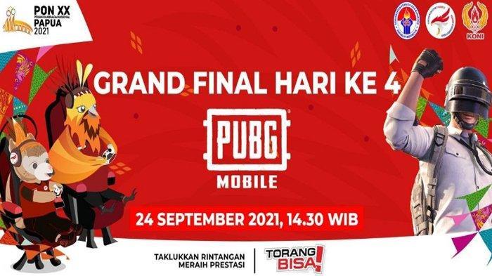 Link Live Streaming Grand Final PUBG Mobile PON Papua 2021 Hari Ini, Berikut Klasemen Sementara