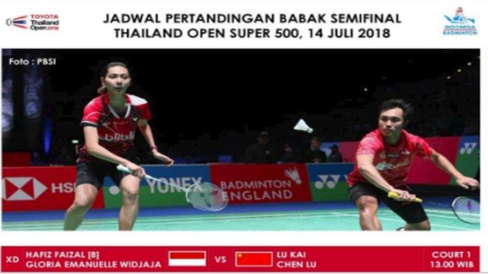 Live Streaming Thailand Open 2018, Cek di Sini Jadwal Wakil Indonesia Bertanding