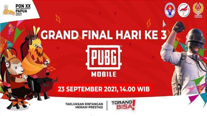 Link Nonton Live Streaming Babak Grand Final PUBG Mobile PON XX Papua 2021, Bisa Pakai HP