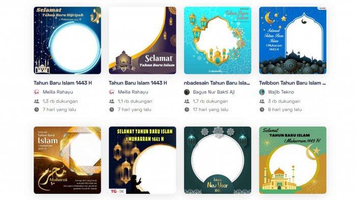 Link Twibbon Tahun baru Islam 2021, Gambar, Bingkai Foto Ucapan Selamat 1 Muharram 1443 Hijriah