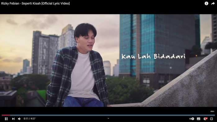 Lirik Lagu Seperti Kisah - Rizky Febian, Kumpulan Lagu Terbaru 2021 dan Terpopuler  Trending YouTube