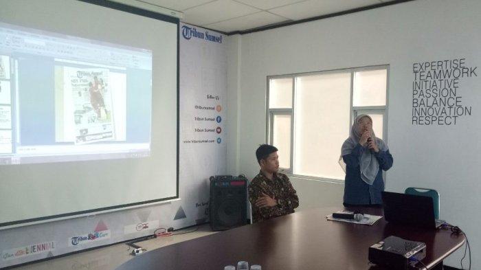 Puluhan Mahasiswa Komunikasi dan Jurnalistik UIN Raden Fatah Belajar ke Kantor Tribun Sumsel
