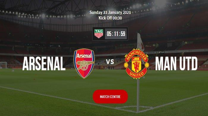 Live Streaming Arsenal vs Manchester United : Head to Head dan Performa Tim di 5 Laga Terakhir