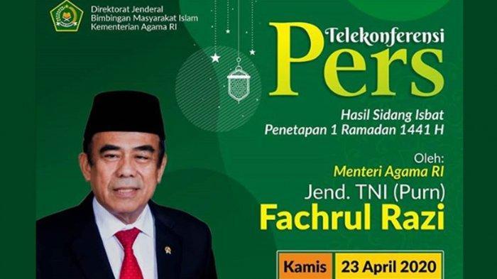 Link Live Streaming TVRI Hasil Sidang Isbat 1 Ramadan 1441 H Kemenag RI Hari Ini 23 April