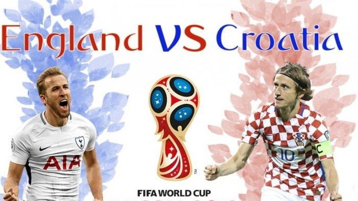 Live Streaming Lewat HP Inggris vs Kroasia Semifinal Piala Dunia 2018, Begini Caranya