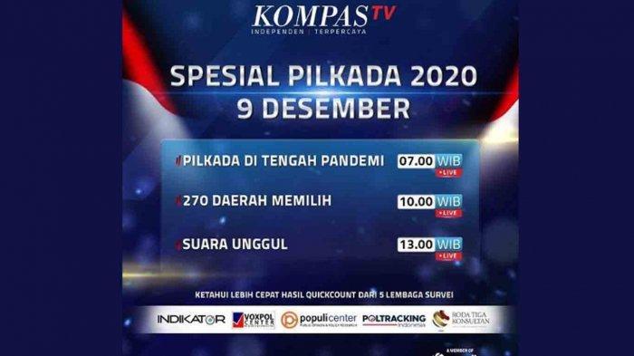 Live Streaming Hitung Cepat Quick Count Pilkada 2020 Ogan Ilir, Muratara, OKU, PALI, Musi Rawas