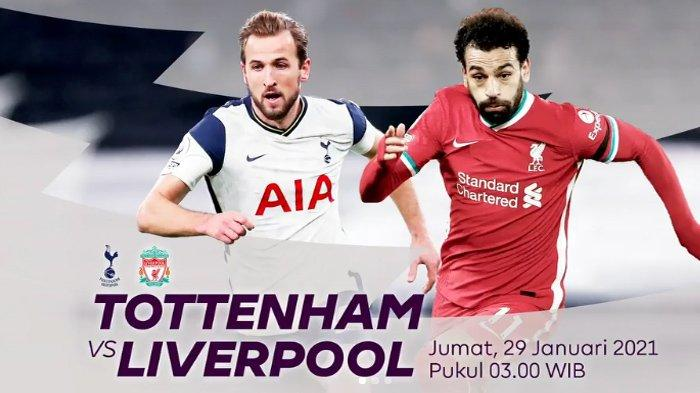 Tottenham Hotspurs vs Liverpool : The Red Unggul Head to Head