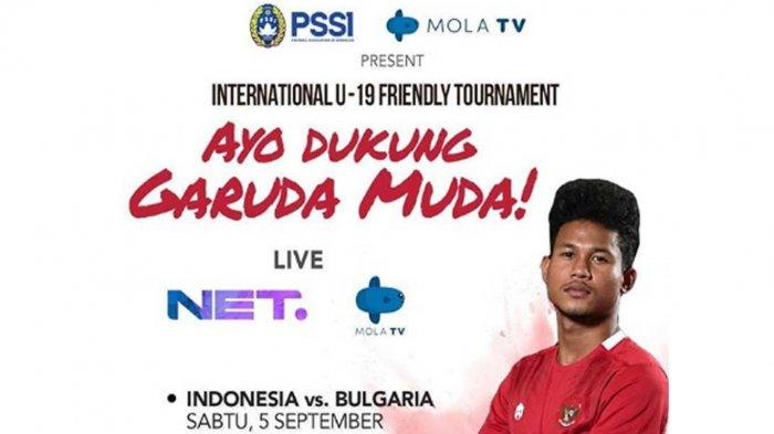 Link Live Streaming TV Bersama Net TV/Mola TV Timnas U-19 Indonesia vs Qatar, Tonton Lewat HP