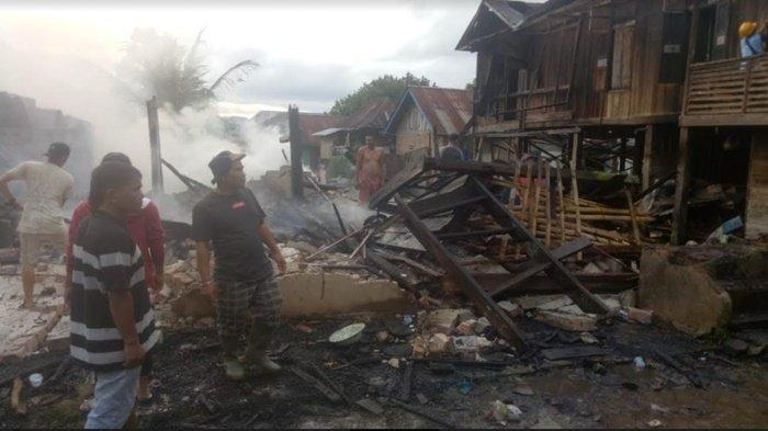 Sedang Memetik Kopi, Rumah Petani Ludes Dilalap Si Jago Merah
