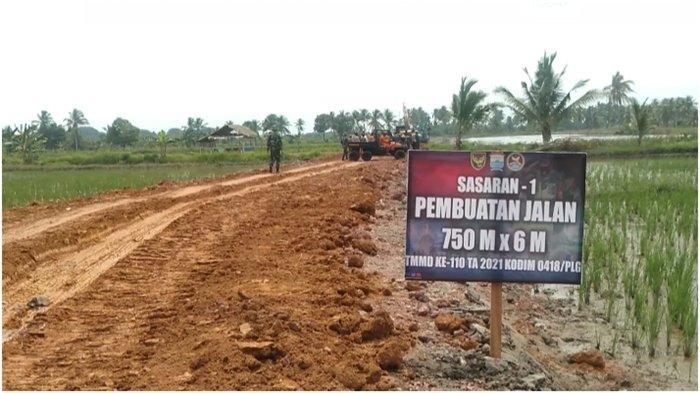 150 Personel Ikuti TMMD Ke-110 Kodim Palembang, Bangun Jalan Hingga Ajak Tamasya Anak-anak