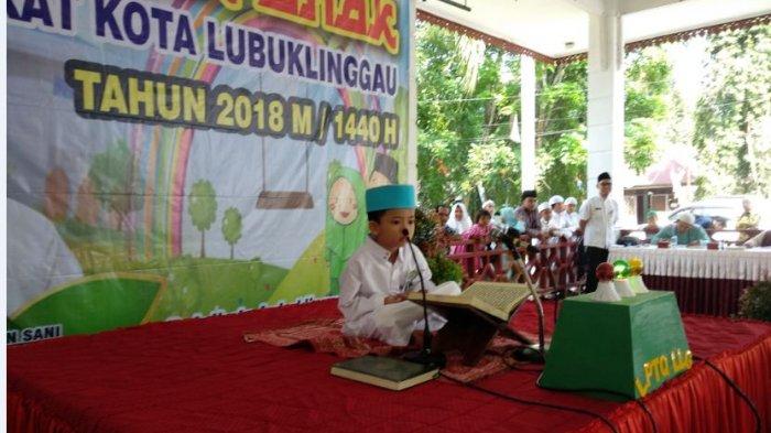 Anak Usia 6-12 Tahun di Lubuklinggau Ikuti Lomba Musabaqah Tilawatil Quran (MTQ)