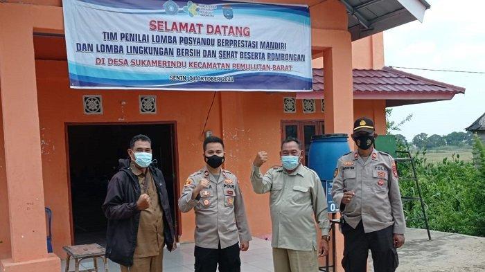 Polsek Pemulutan Amankan Giat Lomba Posyandu Berprestasi Mandiri Lingkungan Bersih dan Sehat