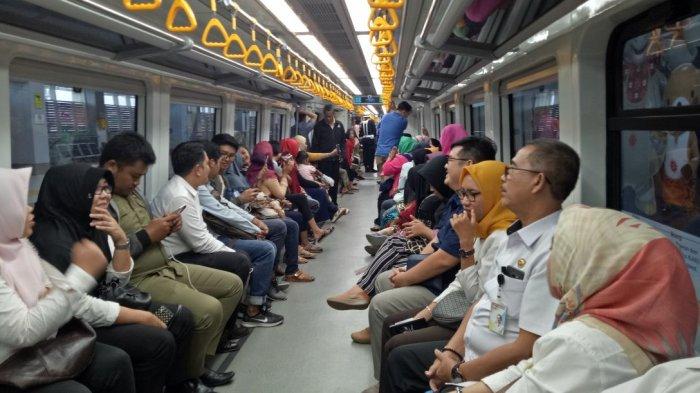 Gubernur Herman Deru dan Walikota Palembang Harnojoyo Imbau PNS Naik LRT, Ini Fasilitas Penunjangnya