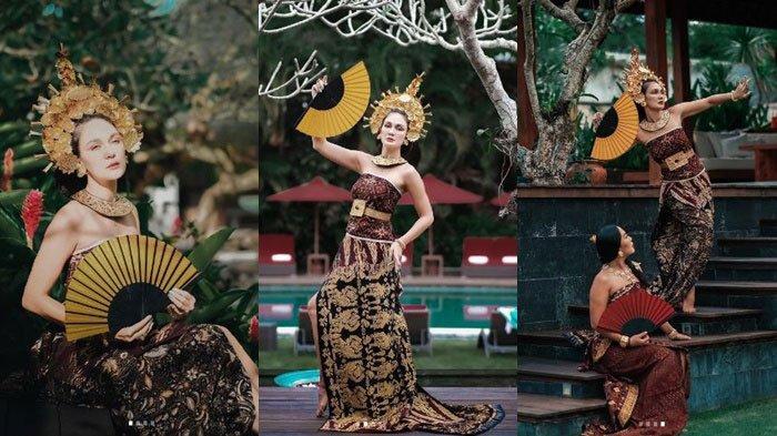Jam Terbang Model Tak Diragukan Lagi, Pose Luna Maya Kenakan Busana Adat Bali Dipuji Figur Publik
