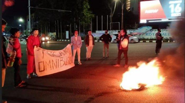 Polrestabes Palembang Amankan 8 Motor Mahasiswa yang Demo Tolak UU Cipta Kerja Semalam