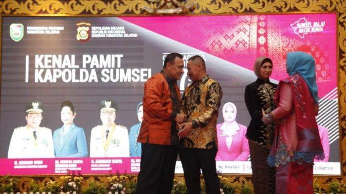 Gubernur Sumsel kepada Kapolda Sumsel yang Baru: Selamat Kembali ke Kampung Halaman Kakanda Firli