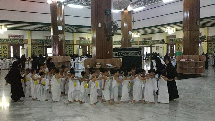 Capek Tapi Senang Siswa PAUD Antusias Ikut Manasik Haji