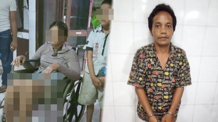 Polisi mengamankan Maniur Sihotang pelaku penganiaya Rina Simanungkalit (33) yang dirantai hingga 3 hari dan disiksa hingga kepalanya bocor, Jumat (23/4/2021)