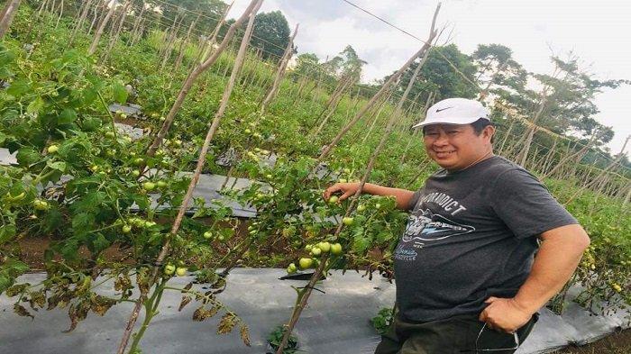 Mantan Kabareskrim Komjen Pol (Purn) Susno Duadji berada di Kebunnya di Pagaraalam.