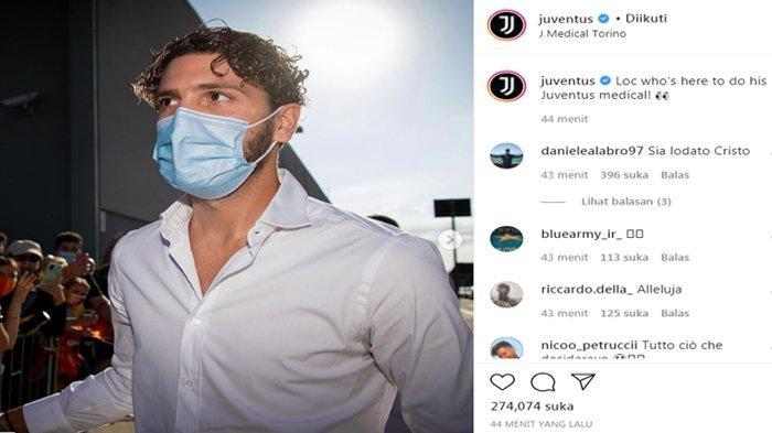 Manuel Locatelli sedang menjalani tes medis bersama Juventus