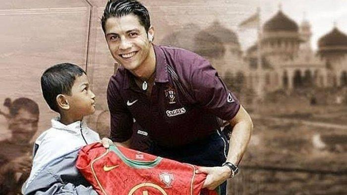 Loh, Martunis Ngaku Bukan  Anak Angkat Cristiano Ronaldo