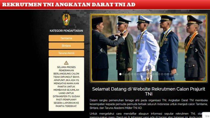 Masih Dibuka Penerimaan Bintara TNI AD Tahun Ajaran 2021, Ini Syarat dan Cara Daftar