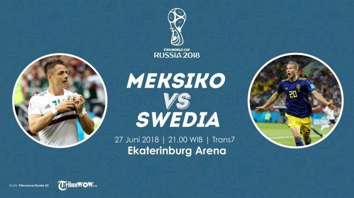 Nonton Live Streaming Piala Dunia Meksiko Vs Swedia di HP via Indosat, XL, dan Telkomsel