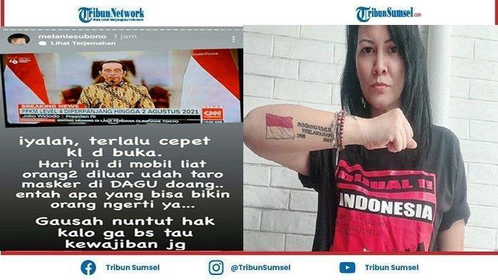Presiden Jokowi Perpanjang PPKM Level 4, Melanie Subono: Ga Usah Nuntut Hak, Kalo Gak Tahu Kewajiban